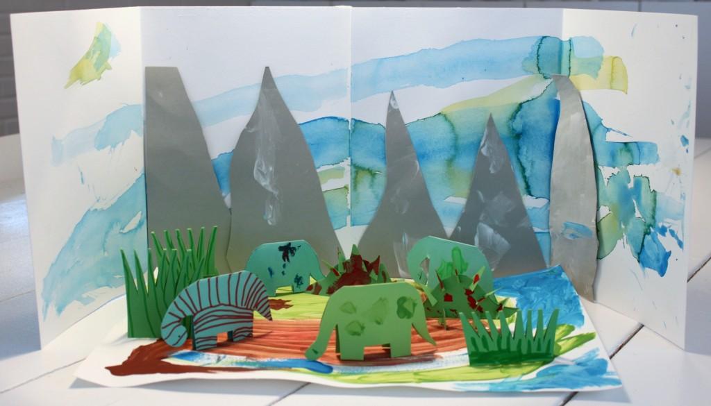 Lasten askartelema dinosaurusmaa