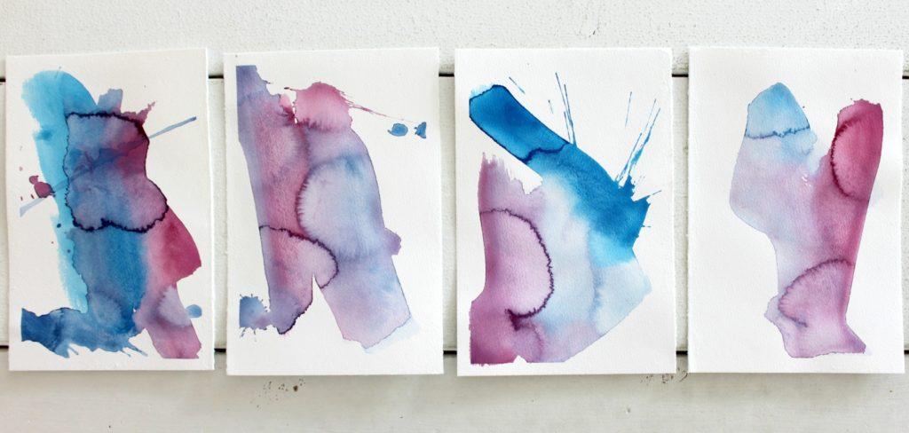 Akvarellikortteja