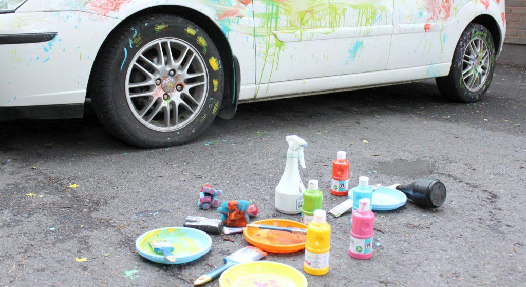 Auton maalaus on päättynyt