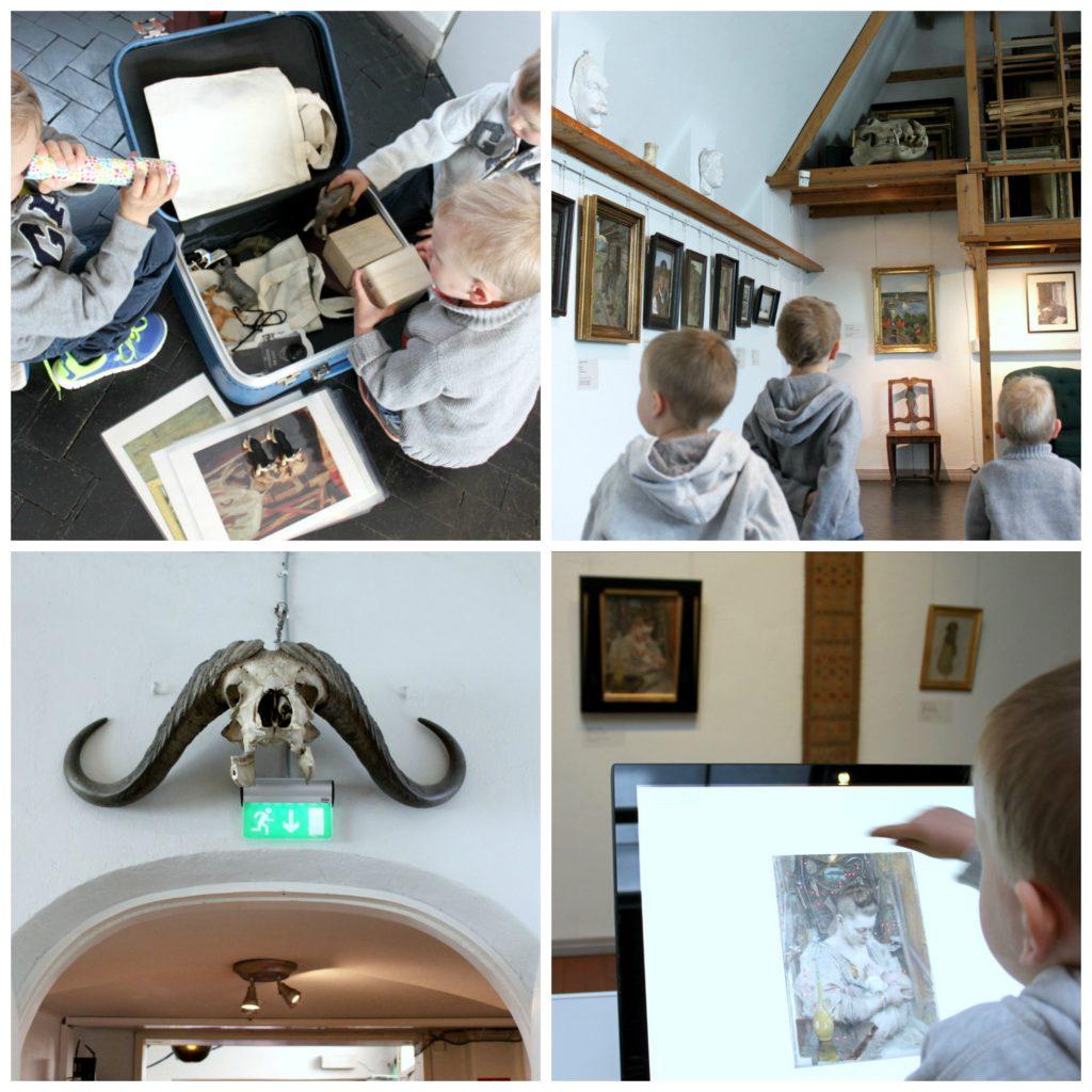 Koko perhe Gallen-Kallelan Museossa