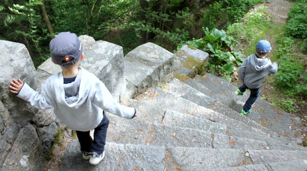 Tarvaspään hurjissa portaissa