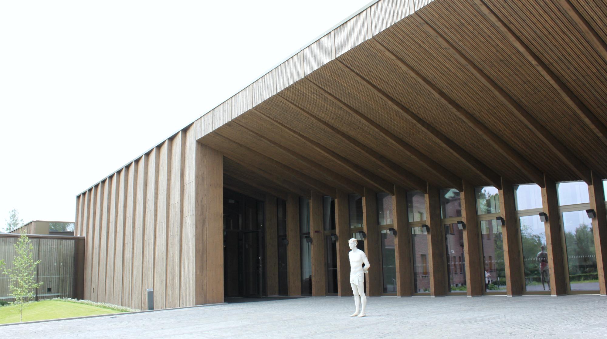 Serlachius-museoiden paviljonki ja Mark Wallingerin Ecce Homo