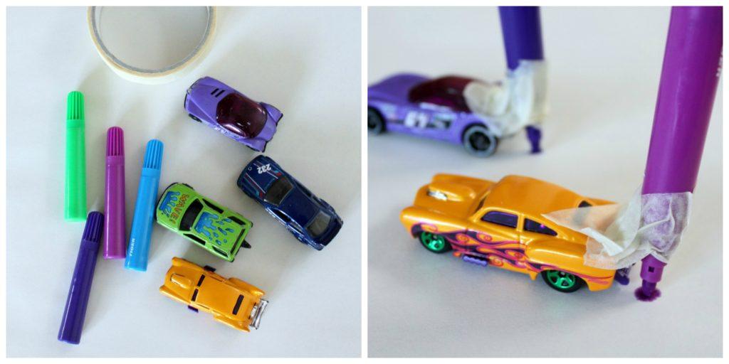 Pikkuautot piirtäjinä