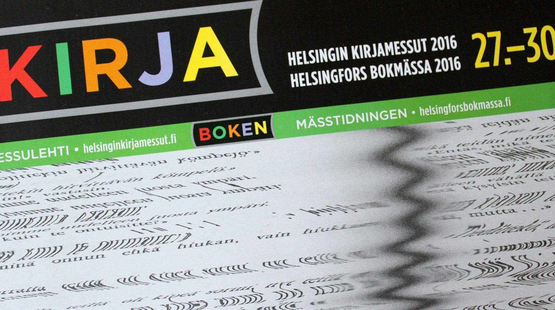 Kirjamessut Helsingissä 27.-30.10.2016