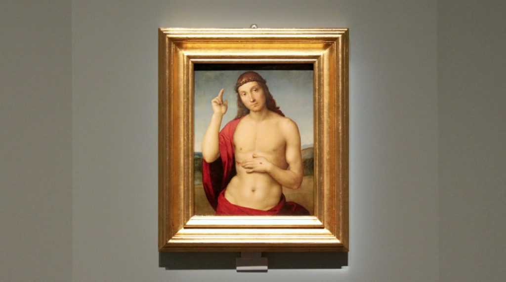 Rafael: Siunaava Kristus Vapahtaja n. 1505-1506 / Kansallismuseo