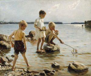 Kansallisgalleria / Albert Edelfelt: Leikkiviä poikia rannalla