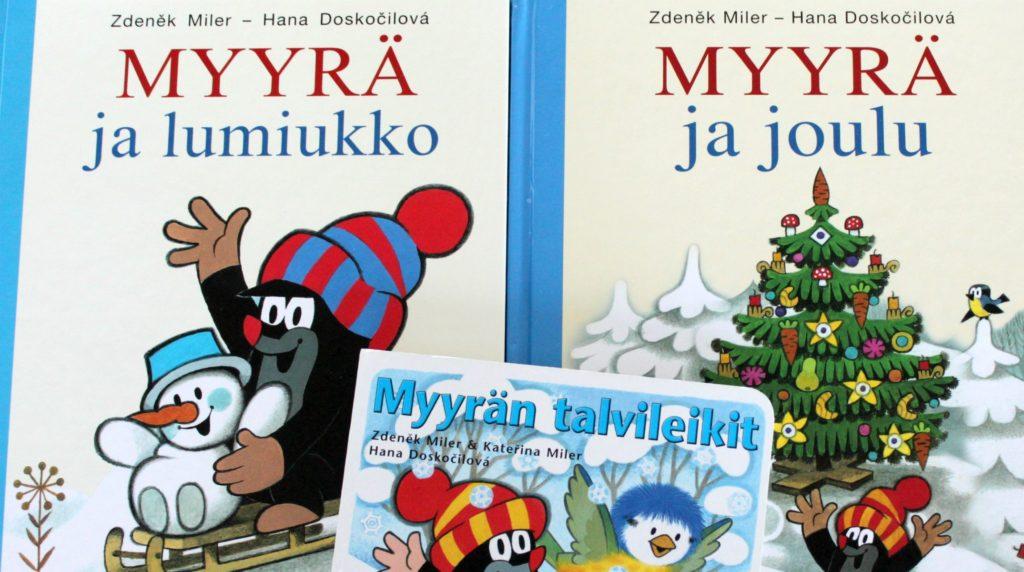 Myyrä ja talvisia kirjoja lapsille