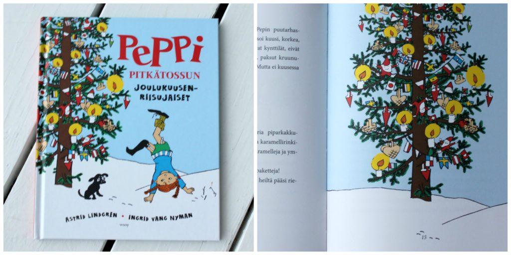 Lasten joulukirja: Peppi Pitkätossun joulukuusenriisujaiset