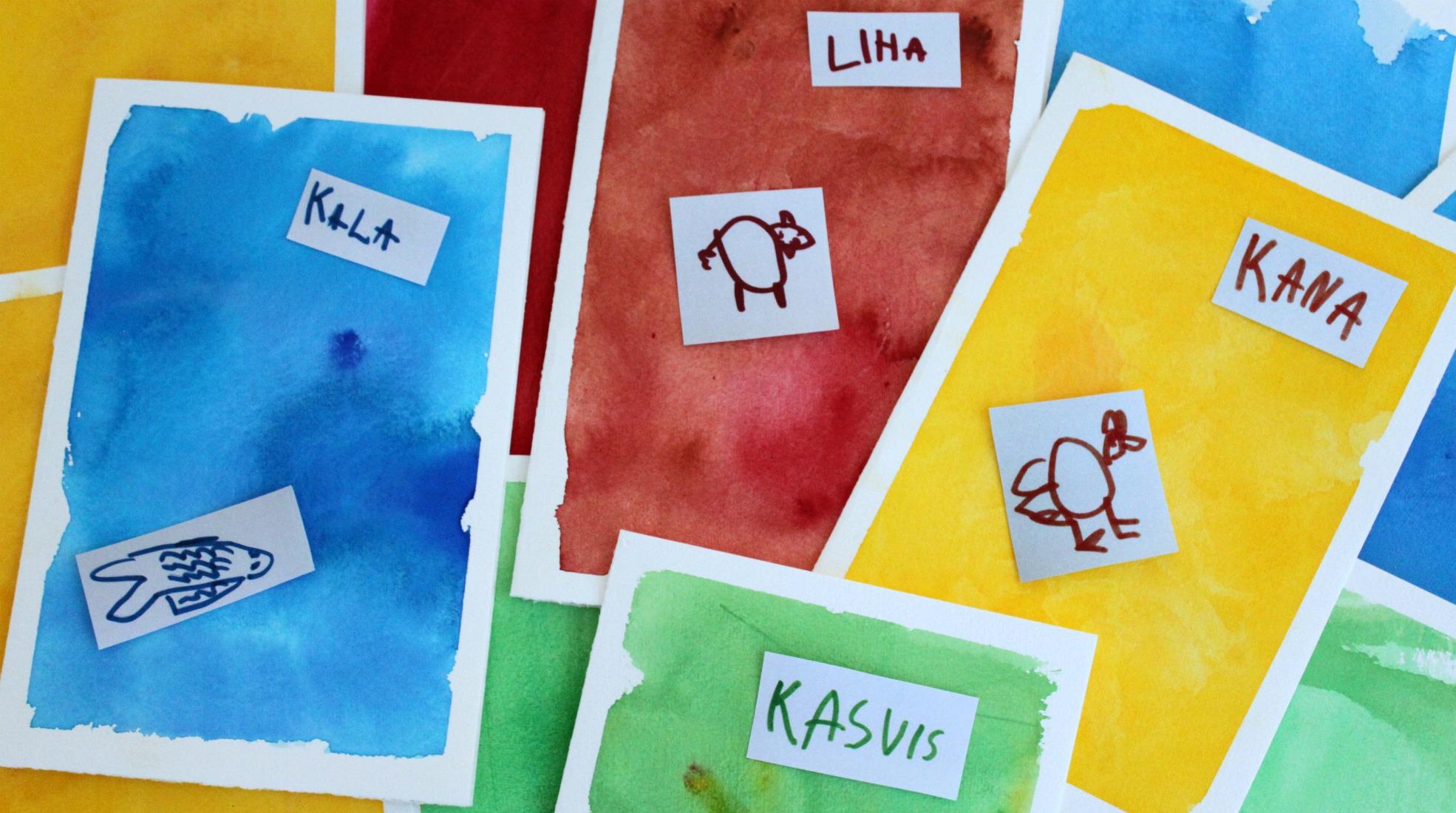Arkiruoka yhdistyy lasten taiteeseen