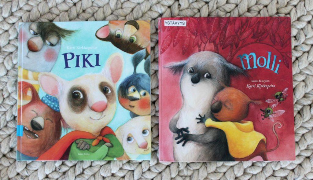Ystävyysaiheisia lastenkirjoja: Katri Kirkkopellon Piki ja Molli