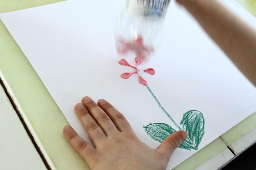 Kukka painamalla
