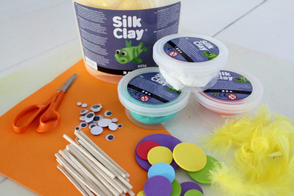 Pääsiäinen / Silk Clay -askartelu