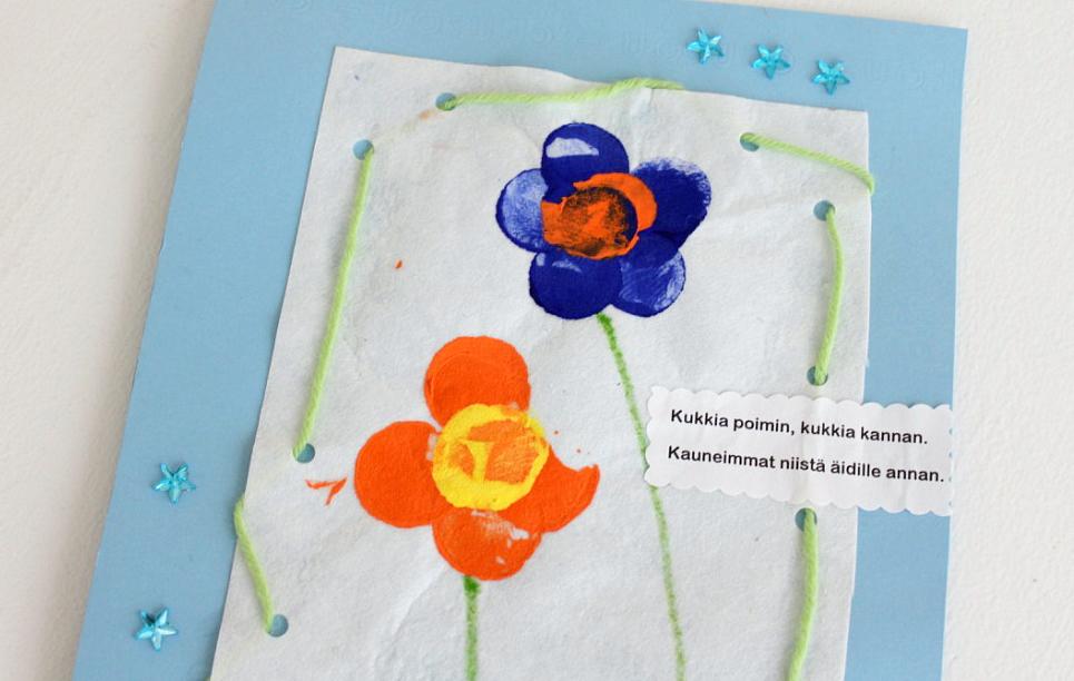 Äitienpäiväkortti