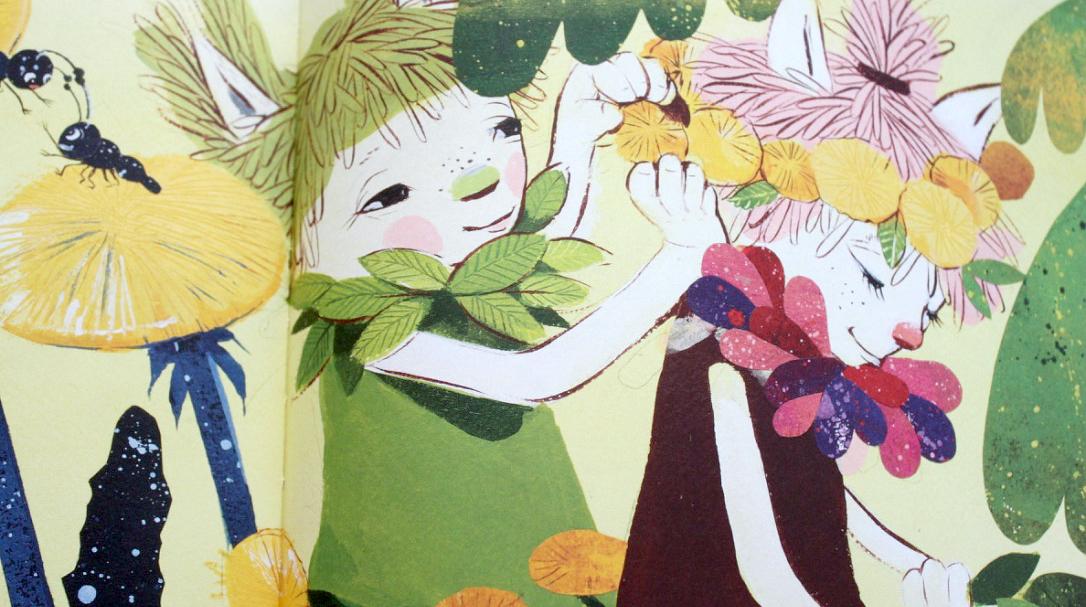Hilla ja Liisi / Sari Aurolan kuvitusta