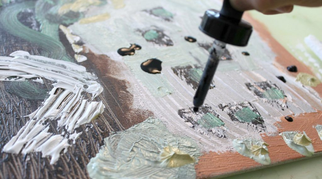 Akryylimaalaus pellavapohjalle