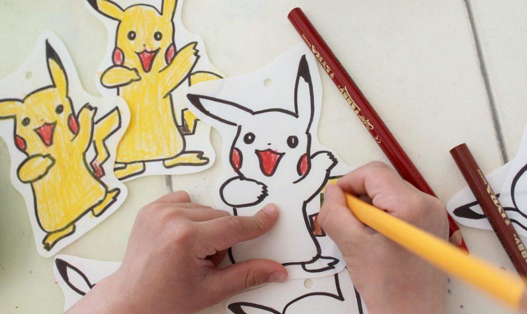 Pokemon-synttärit / Pikachut kutistemuovista