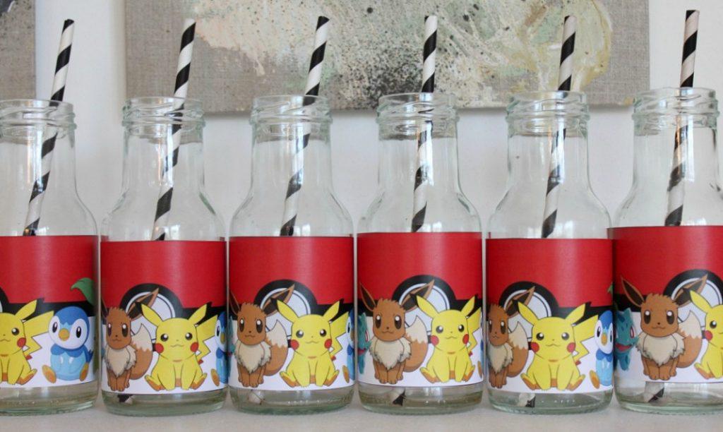 Pokémon-synttärit / juomapullot