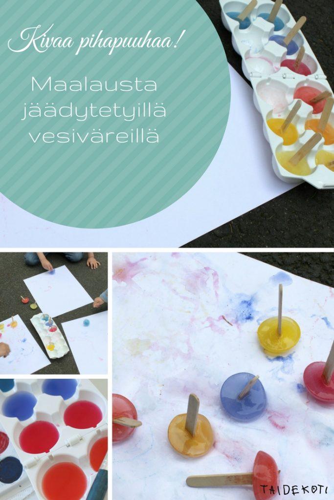 Jäävärit / maalausta jäädytetyillä vesiväreillä