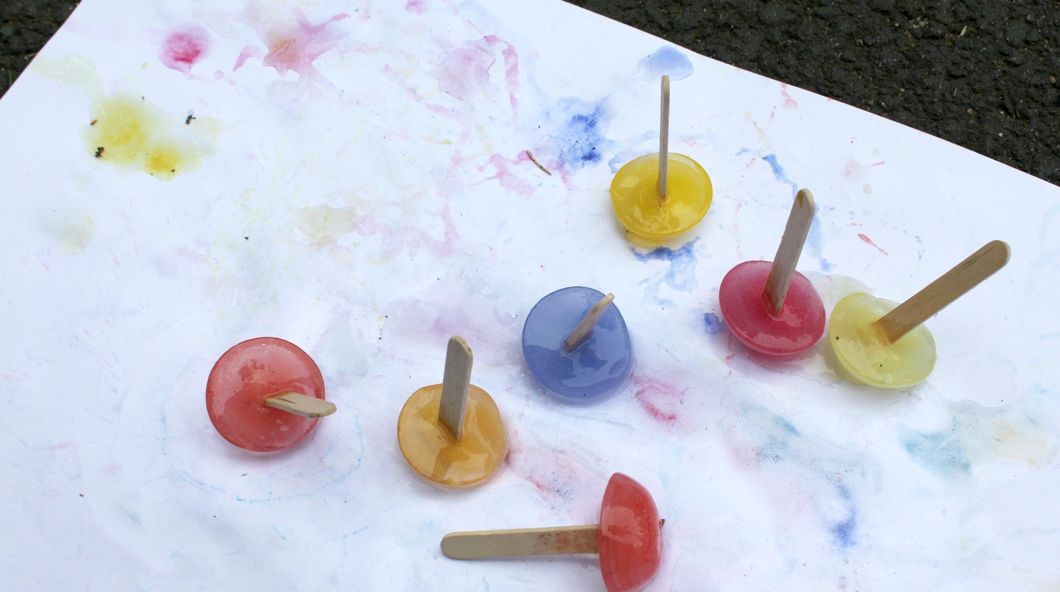 Jäävärit / maalausta jäädytetyillä vesiväripuikoilla