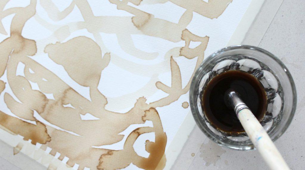 Kahvi / Maalausta kahvilla