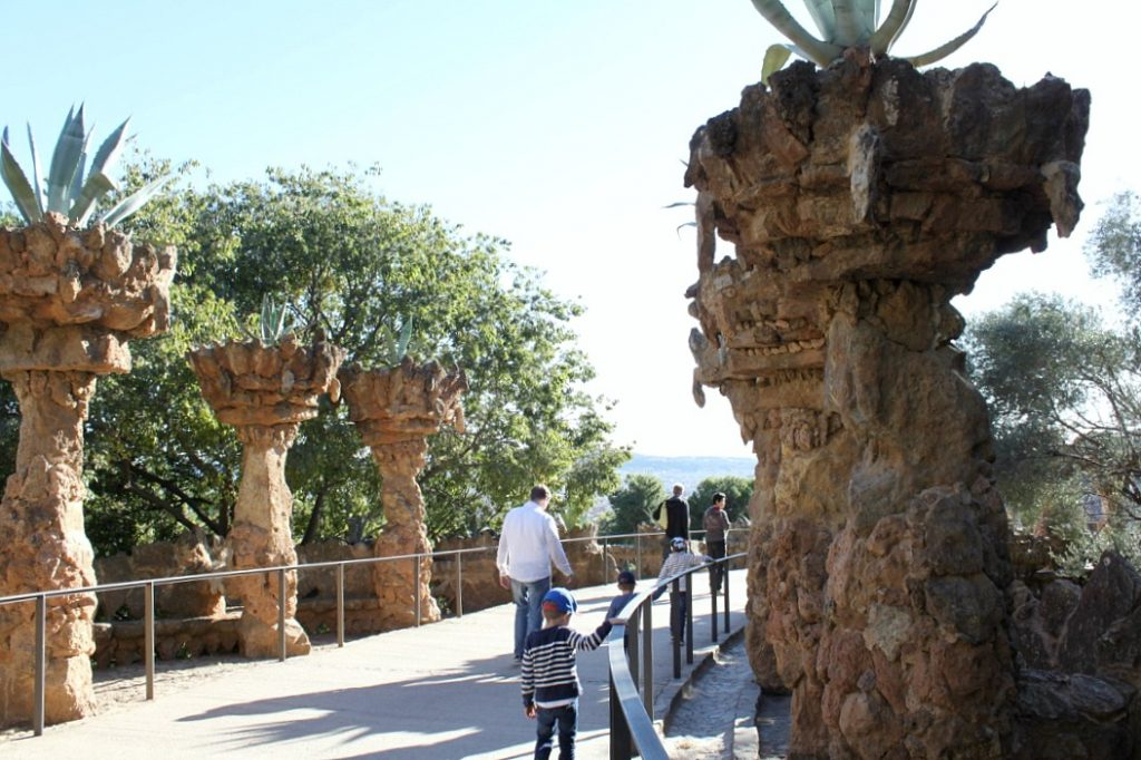 Güellin puisto (ns. Gaudin puisto) Barcelonassa