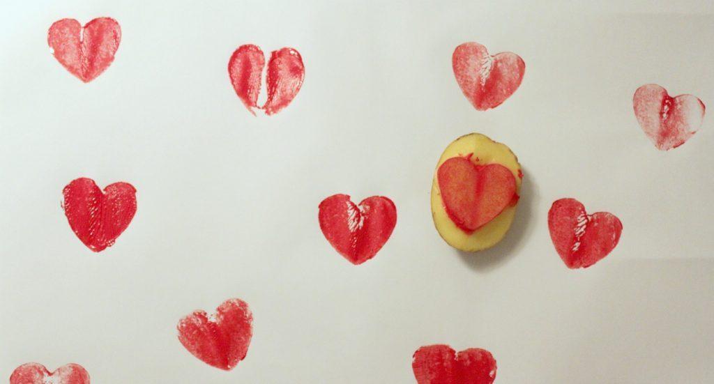 Ystävänpäivä / sydämiä perunalla