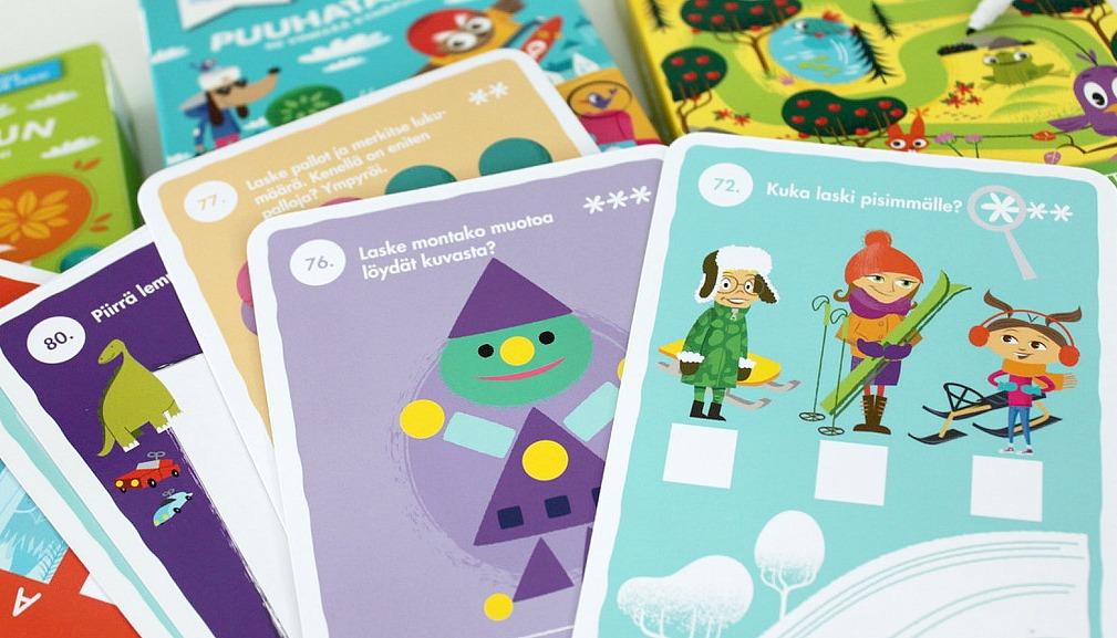 Oppi&ilo / Pyyhittävät puuhakorttipakat