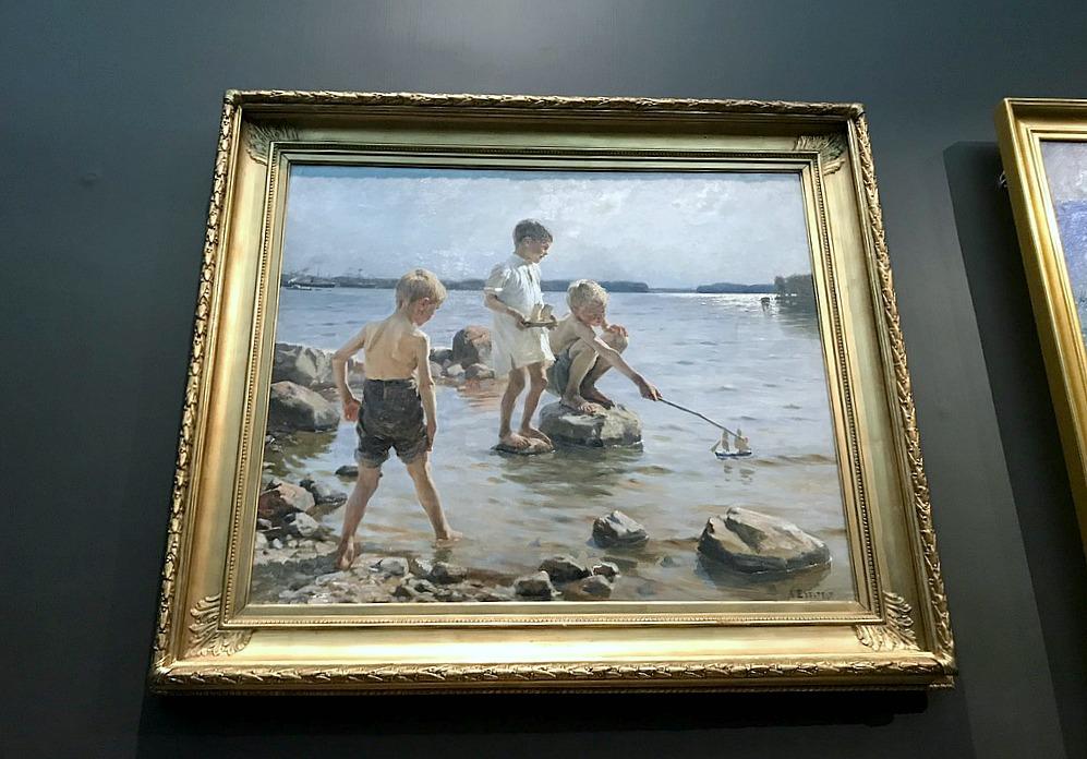 Albert Edelfelt: Leikkiviä poikia rannalla