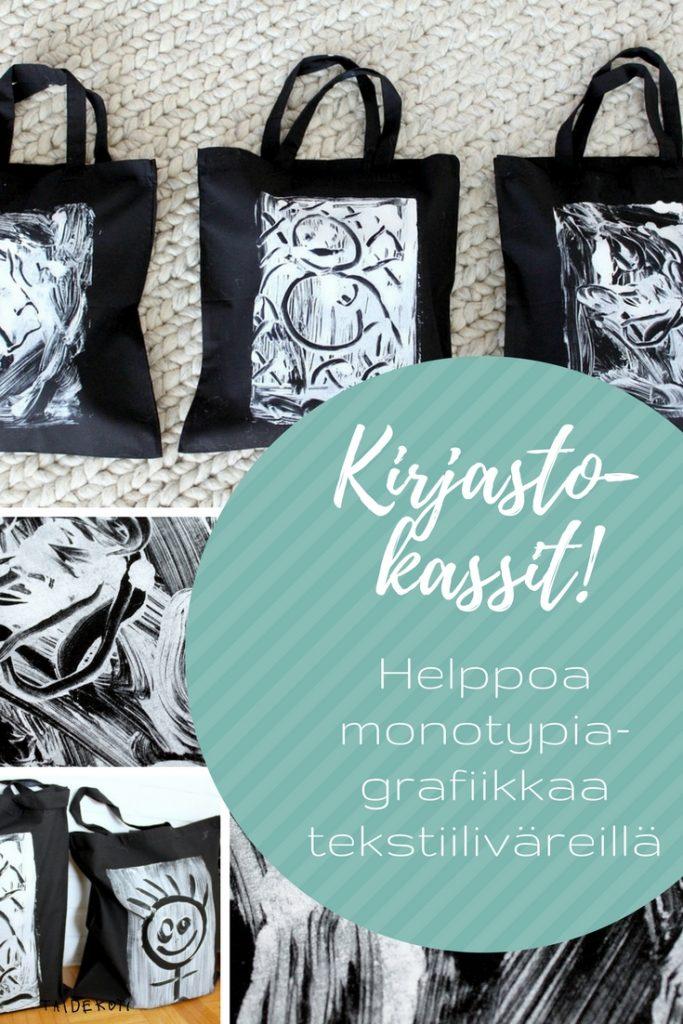 Monotypia / Kankaanpainanta / Kirjastokassit