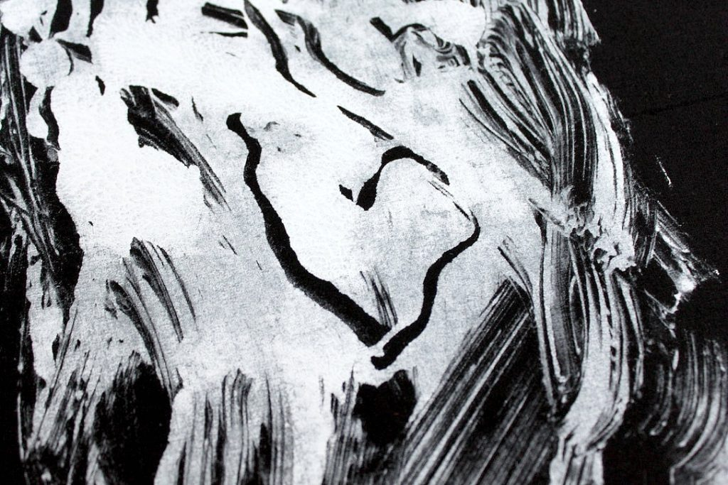 Monotypiaa tekstiilivärillä