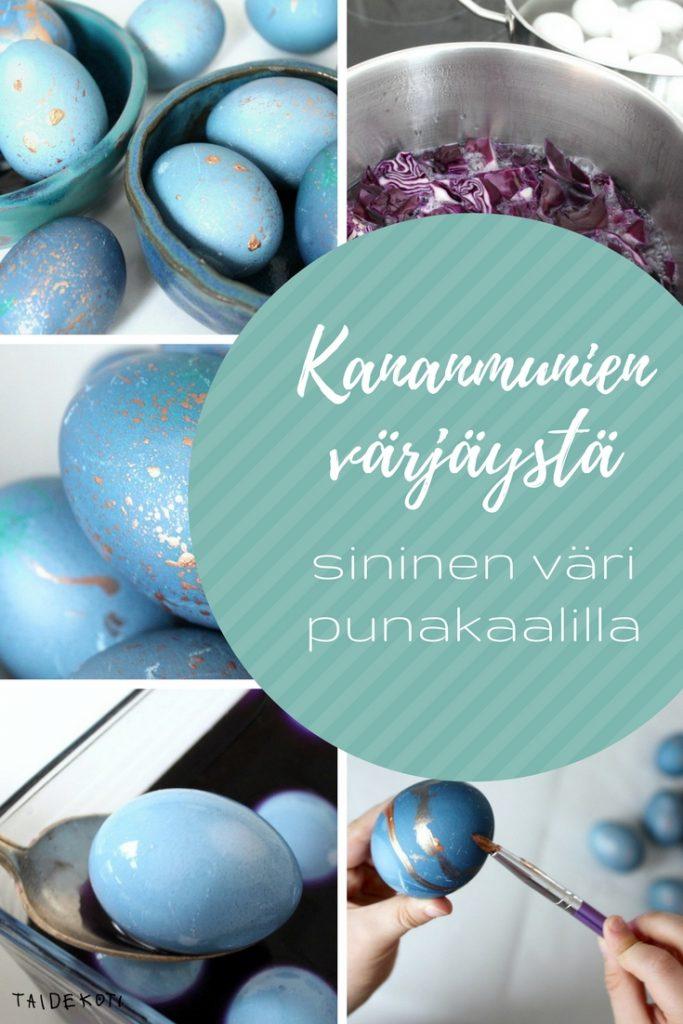 Kananmunien värjäys / Pääsiäisaskartelu / Siniset munat