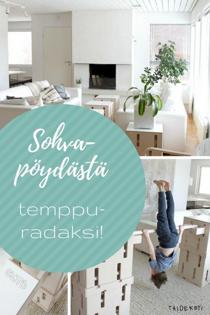 Gymi Furniture / sohvapöydästä temppuradaksi