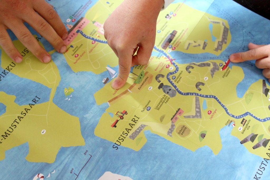 Lasten Suomenlinna -kartta