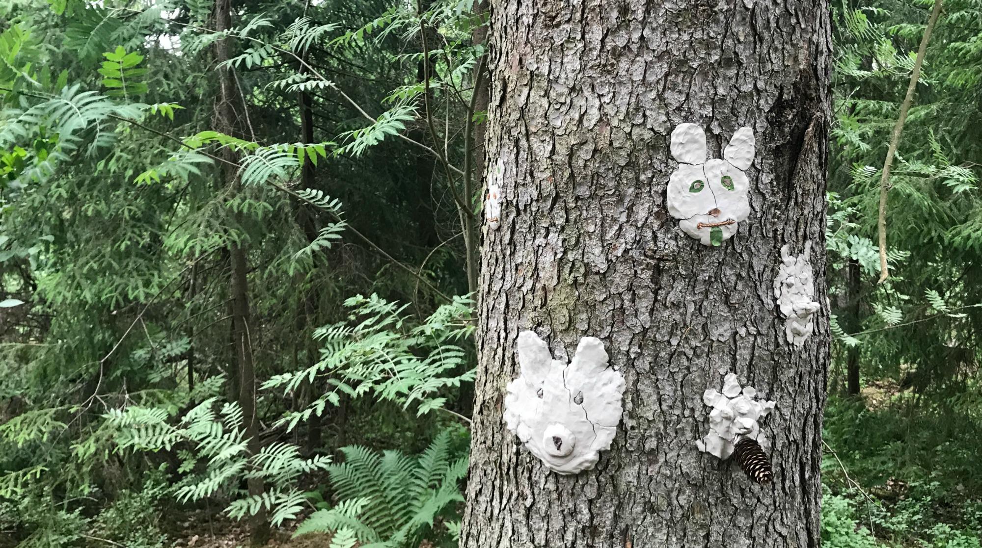 Kuvisseikkailu metsässä / Espoon kuvataidekoulu