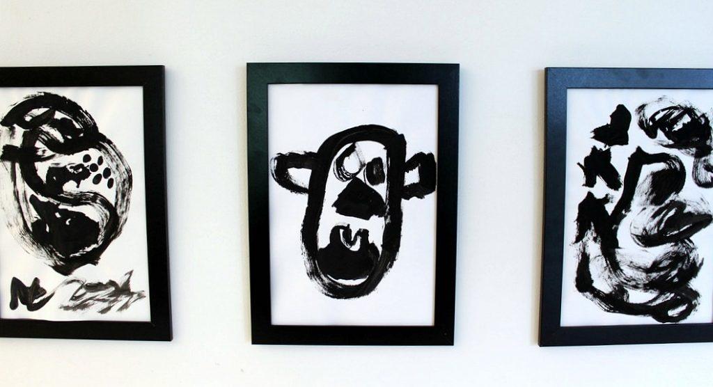 Lasten taide / Mustavalkoista taidetta