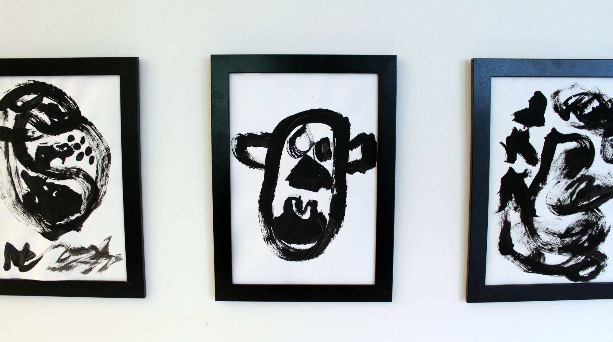 Mustavalkoista taidetta / Lasten taide