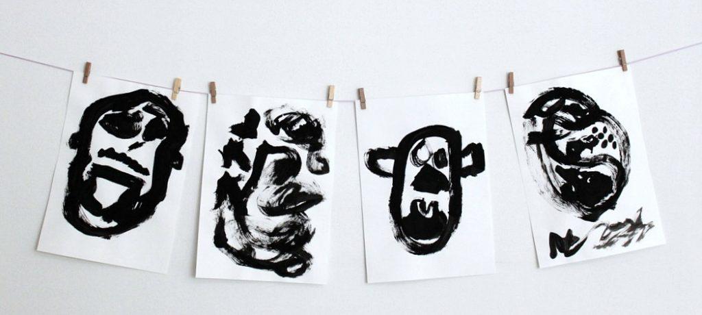 Mustavalkoista taidetta