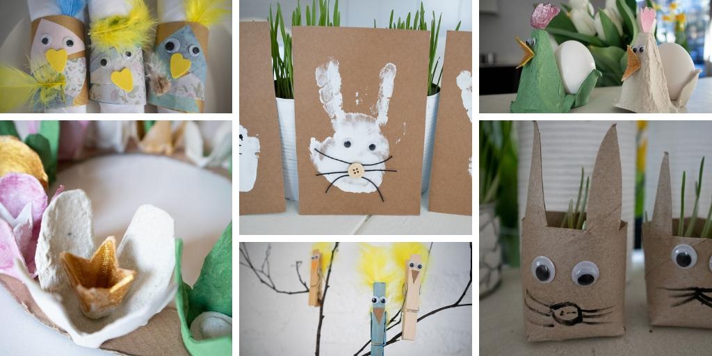 Pääsiäisaskartelua - 10 ideaa kierrätysmateriaaleista