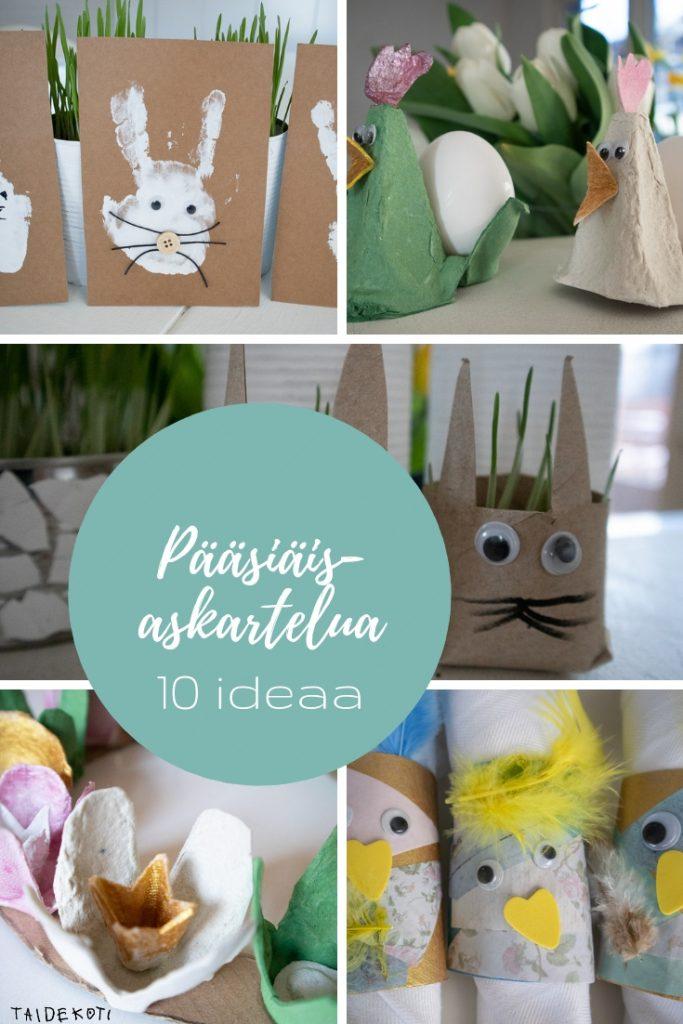 Pääsiäisaskartelu - 10 ideaa lapsille kierrätysmateriaaleista