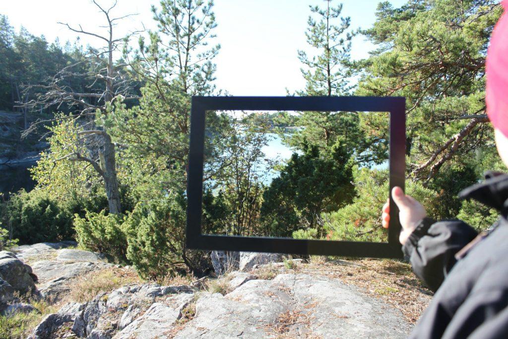 Taidetta luonnossa / Luonnon kehystäminen